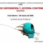 Convocatoria: IV Muestra de orfebrería y joyería contemporáneas de Madrid (AdOC)