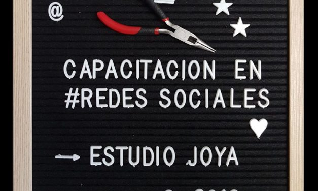 Workshop: Capacitación en redes sociales – Estudio Joya