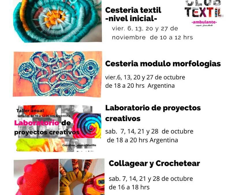 Talleres textiles para noviembre