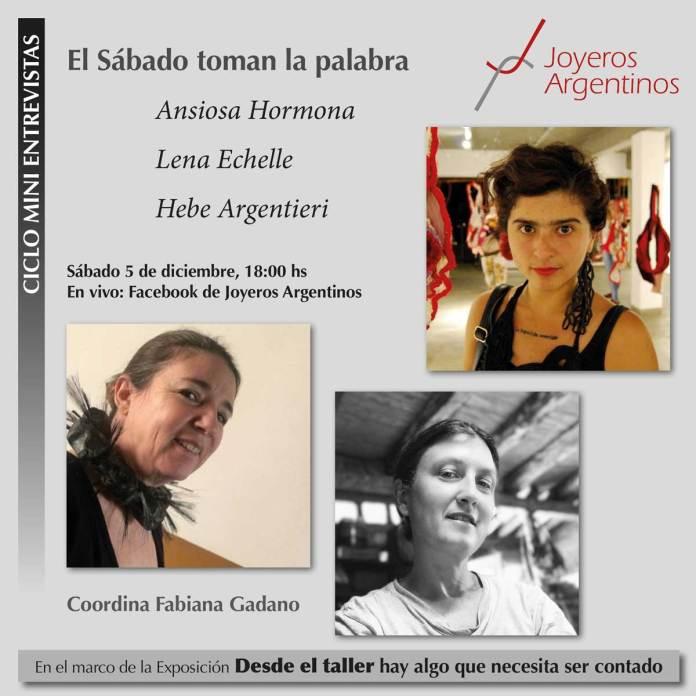Toman la palabra Jessica Morillo (Ansiosa Hormona), Hebe Argentieri y Lena Echelle.