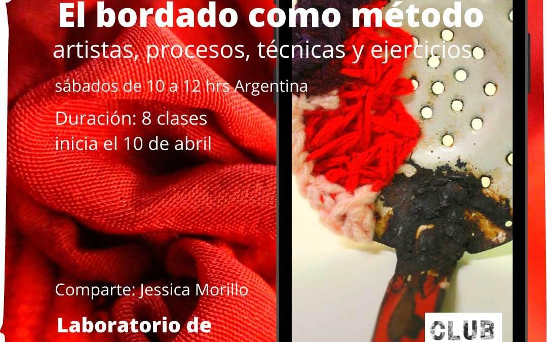El bordado como método, taller a cargo de Jessica Morillo