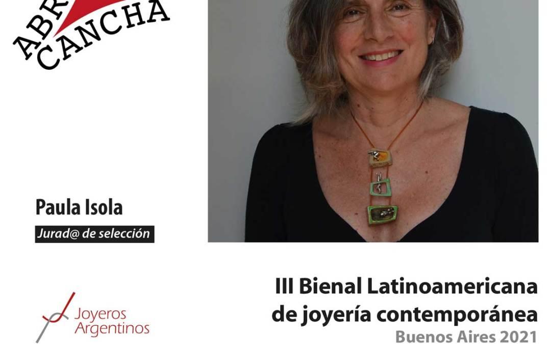 Jurad@s de la bienal: Paula Isola