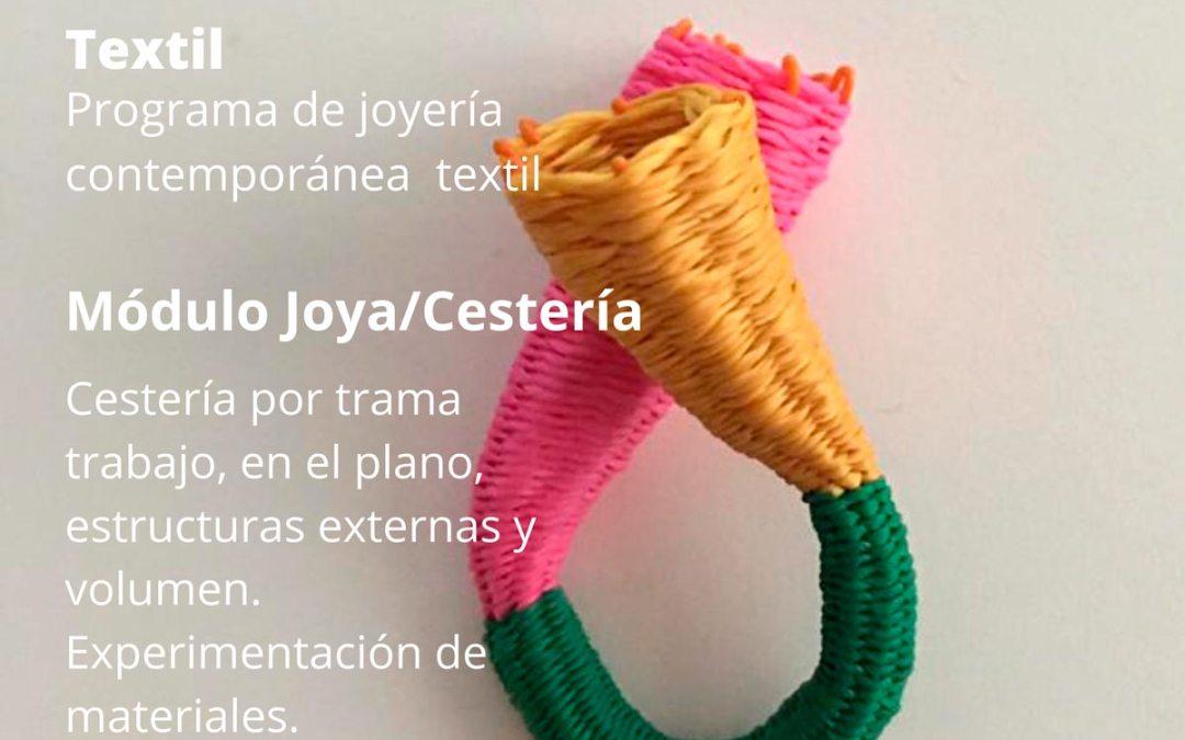 Joya/Cestería, taller coordinado por Jessica Morillo