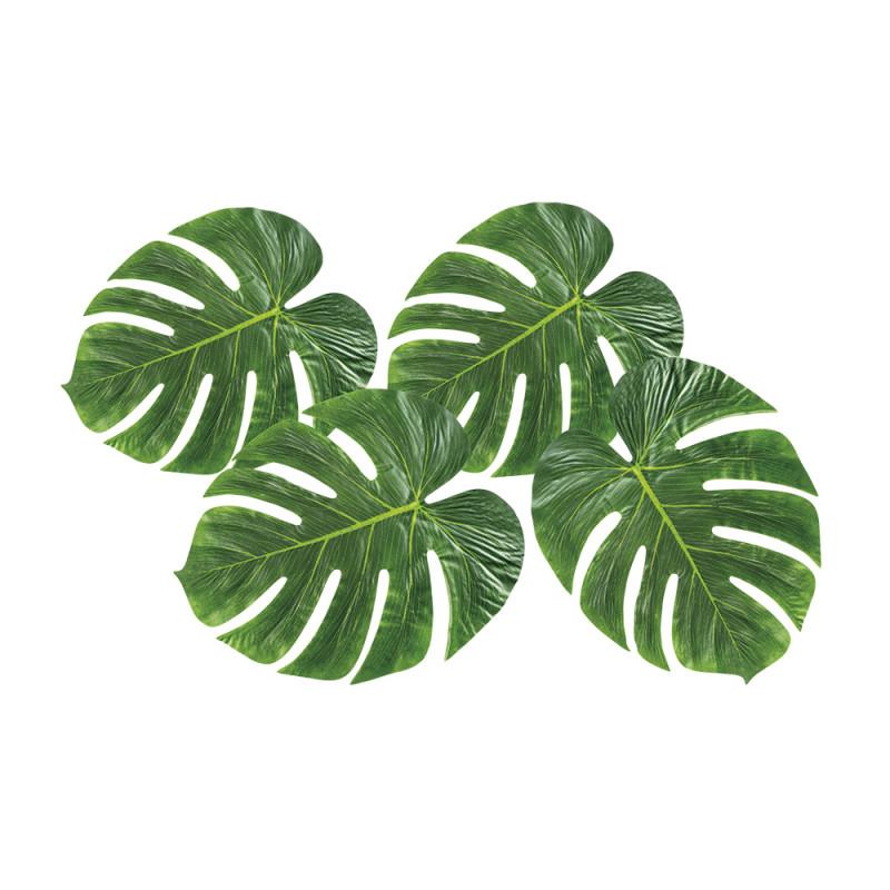 4 feuilles de palmier 33cm