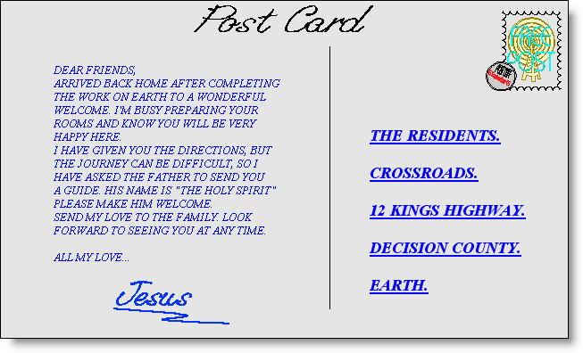 Postcard from Jesus