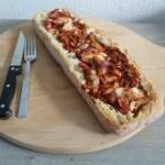 Recept | Gevuld brood BBQ chicken style