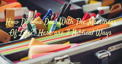 How Do You Deal With The Messiness Of Life Here are 3 Biblical Ways