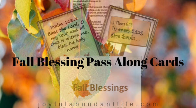 Fall/Thanksgiving Blessing Cards Free Printable