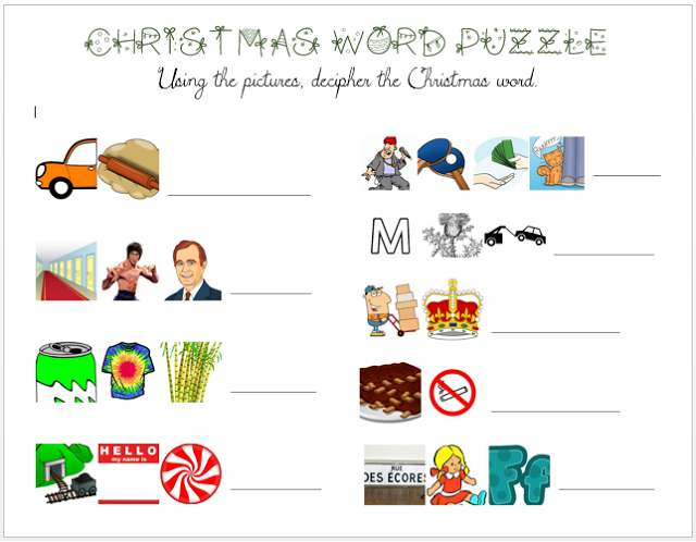 Christmas Word Puzzle Game