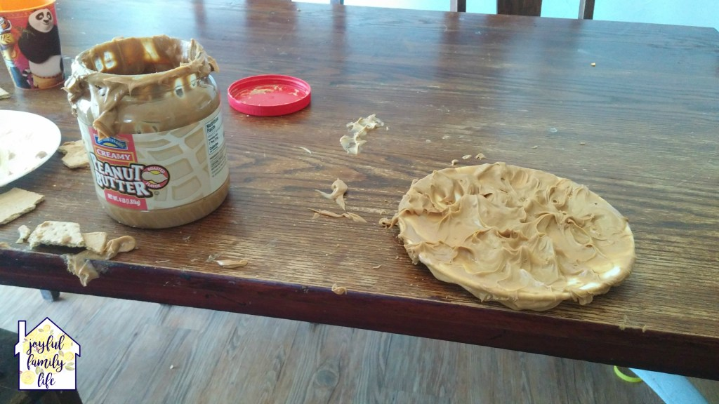 Peanut Butter on table