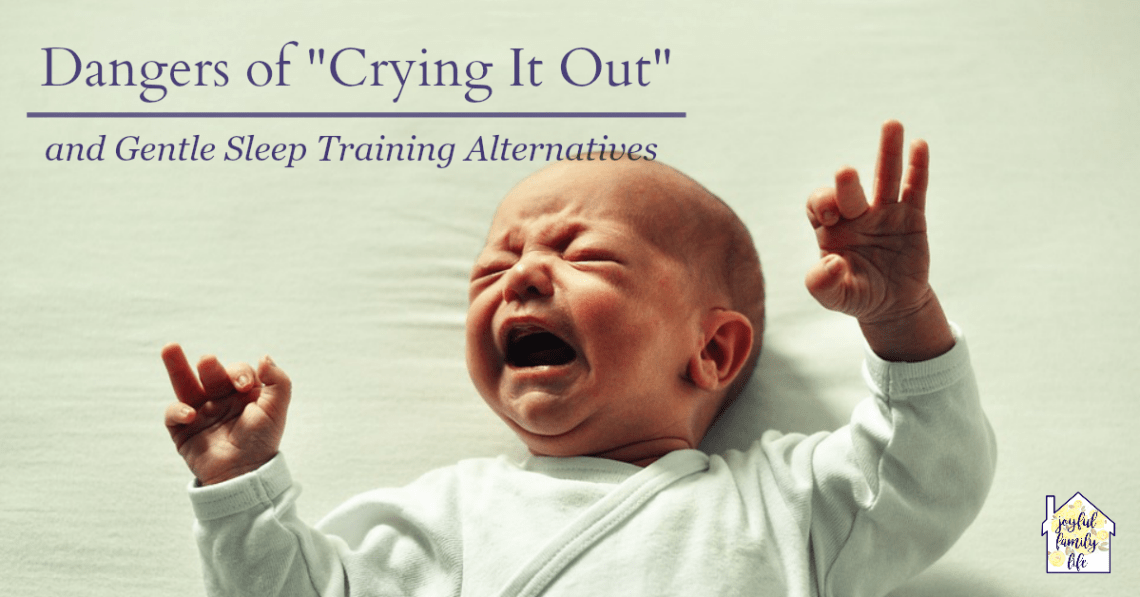 "Before you let your baby ""cry it out"" at bedtime, read some cautionary advise from professional researchers doctors. From the Joyful Family Life blog"