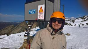 Picture of Serina standing at 1980m elevation at Thredbo