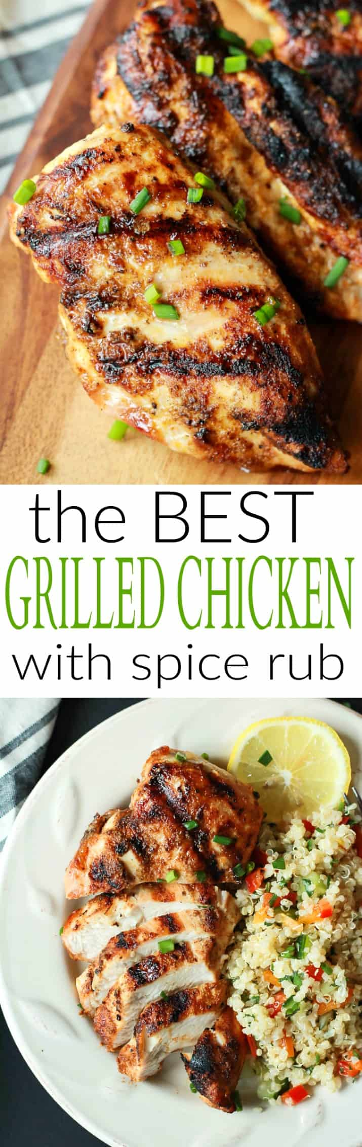 Juicy Grilled Chicken Breast with Homemade Spice Rub ...