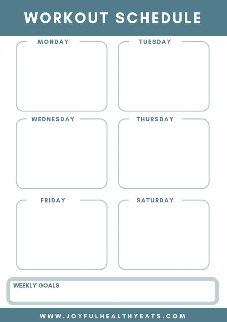We all have busy days packed with everything from dentist appointments to the kids' soccer practices to the conference calls we aren't exactly looking forward to. Start The Year Off Right Free Printables Meal Plan And Workout Planner