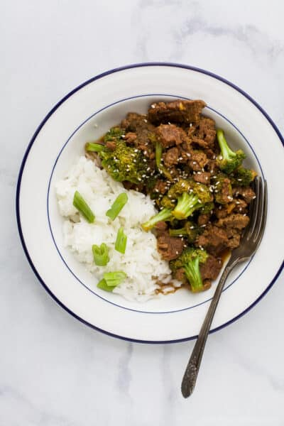 instant pot mongolian beef with broccoli