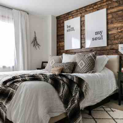 DIY Wood Plank Accent Wall