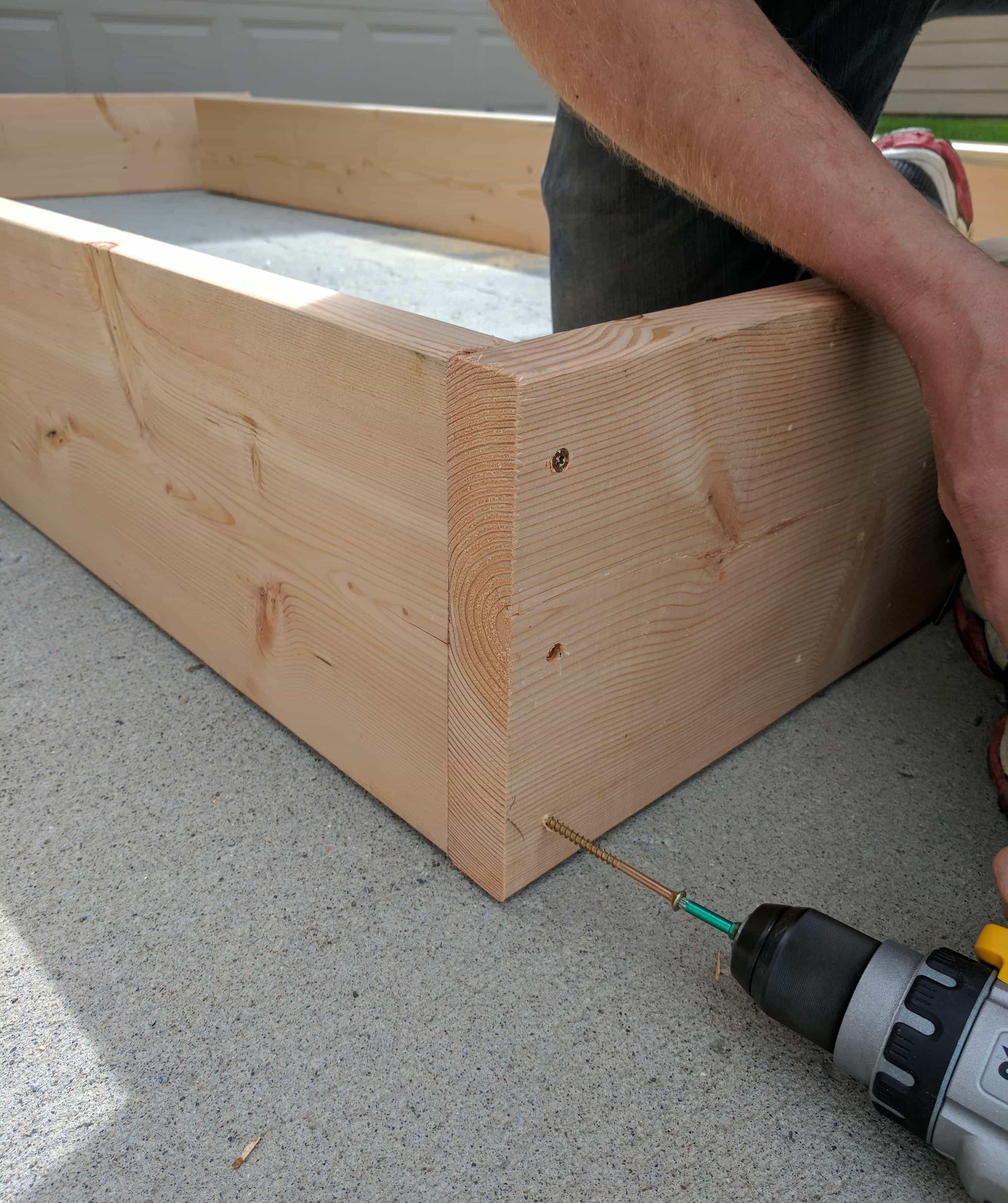 Assembling DIY Raised Garden Beds