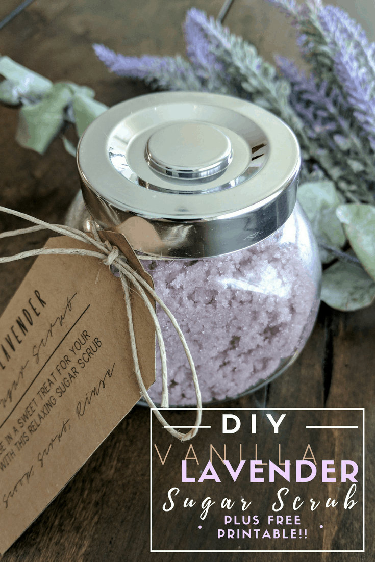 DIY Sugar Scrub with FREE PRINTABLE