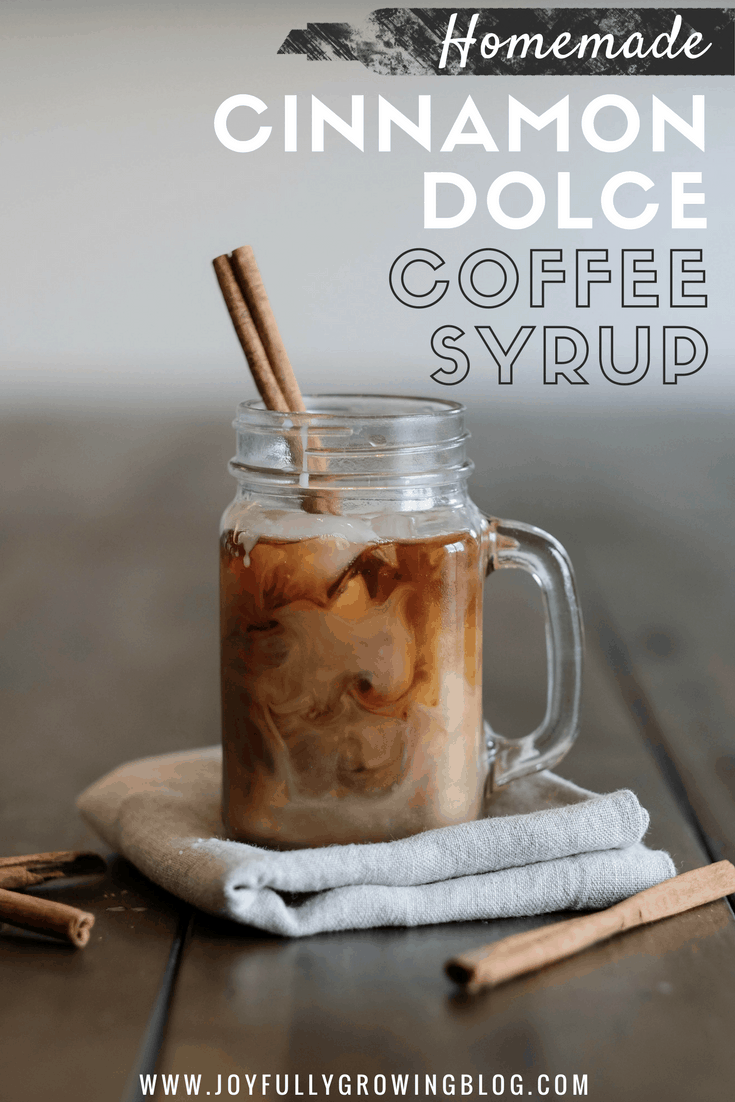 Homemade cold brew coffee with Cinnamon Dolce Coffee Syrup