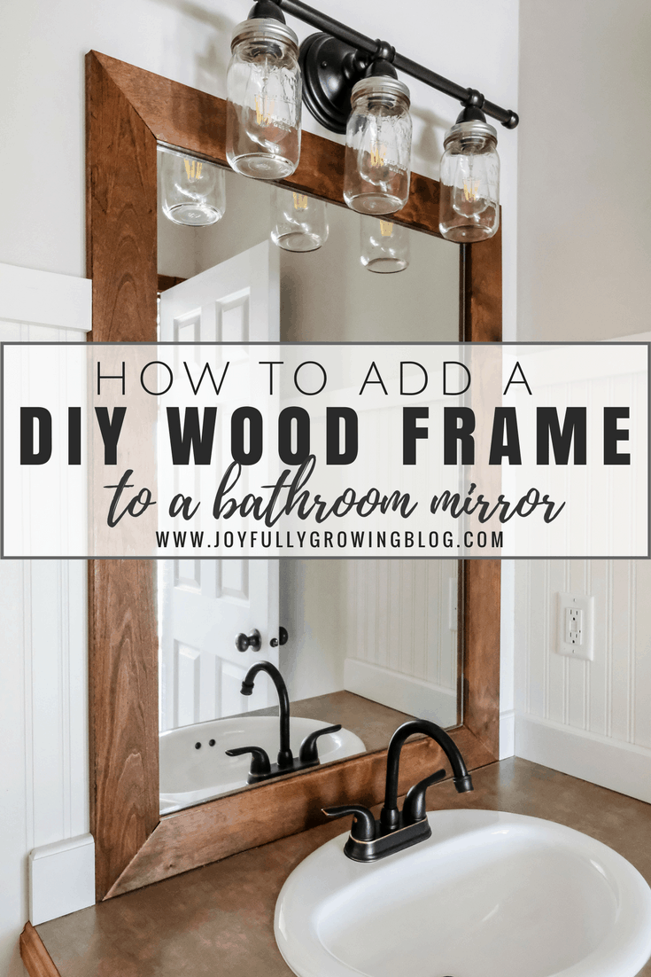 frame around bathroom mirror how to add a diy wood frame to a bathroom mirror 18375