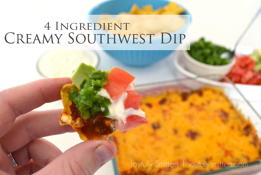 4 Incredient Creamy Southwest Dip