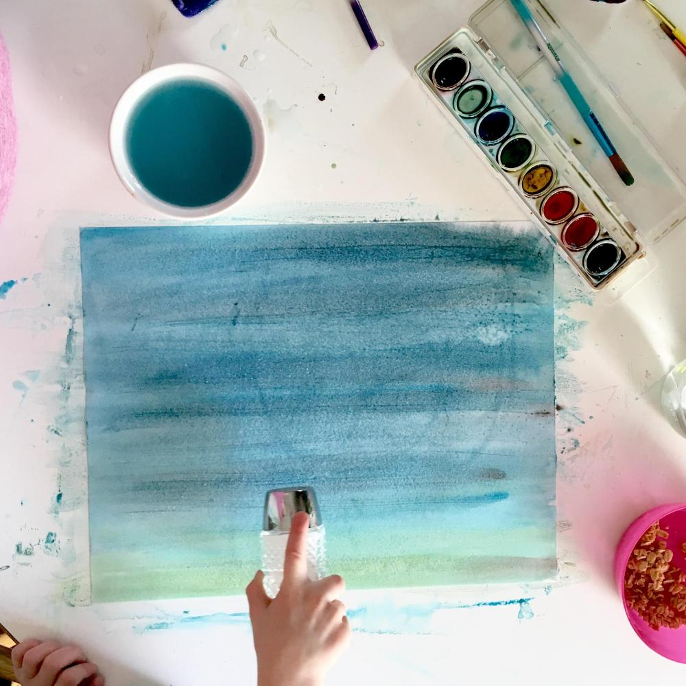 Watercolor Texture DIY with Joyfully Smitten - using something right in your kitchen