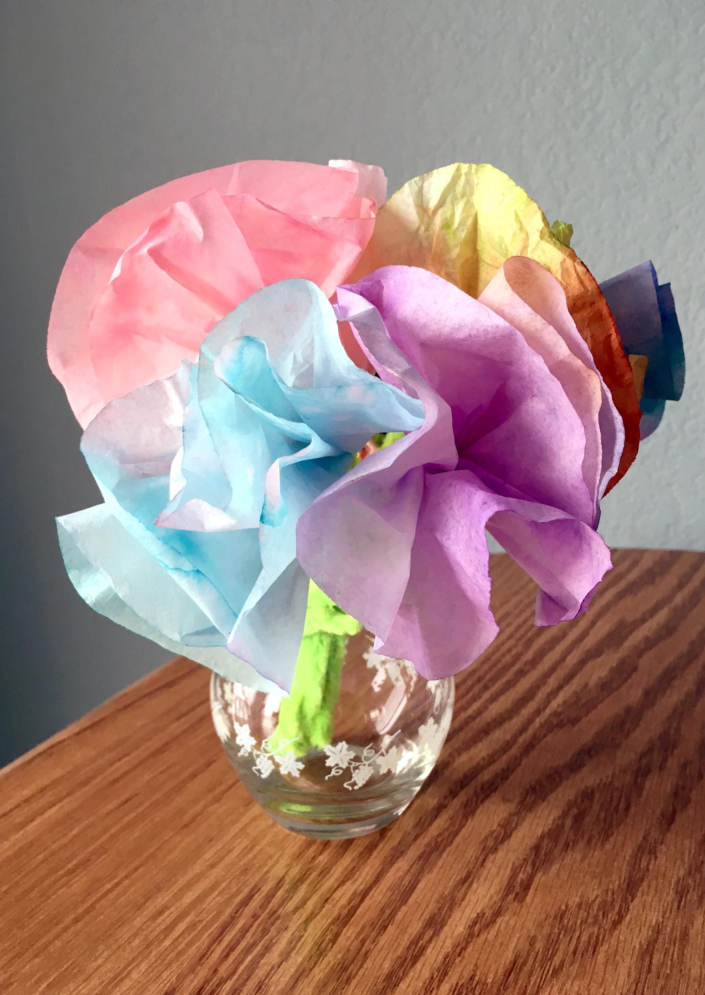 Coffee Filter Flowers Diy Joyfully Smitten