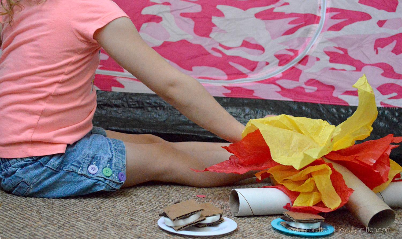 KIDS CAMPFIRE AND SMORES DIY Joyfullysmitten