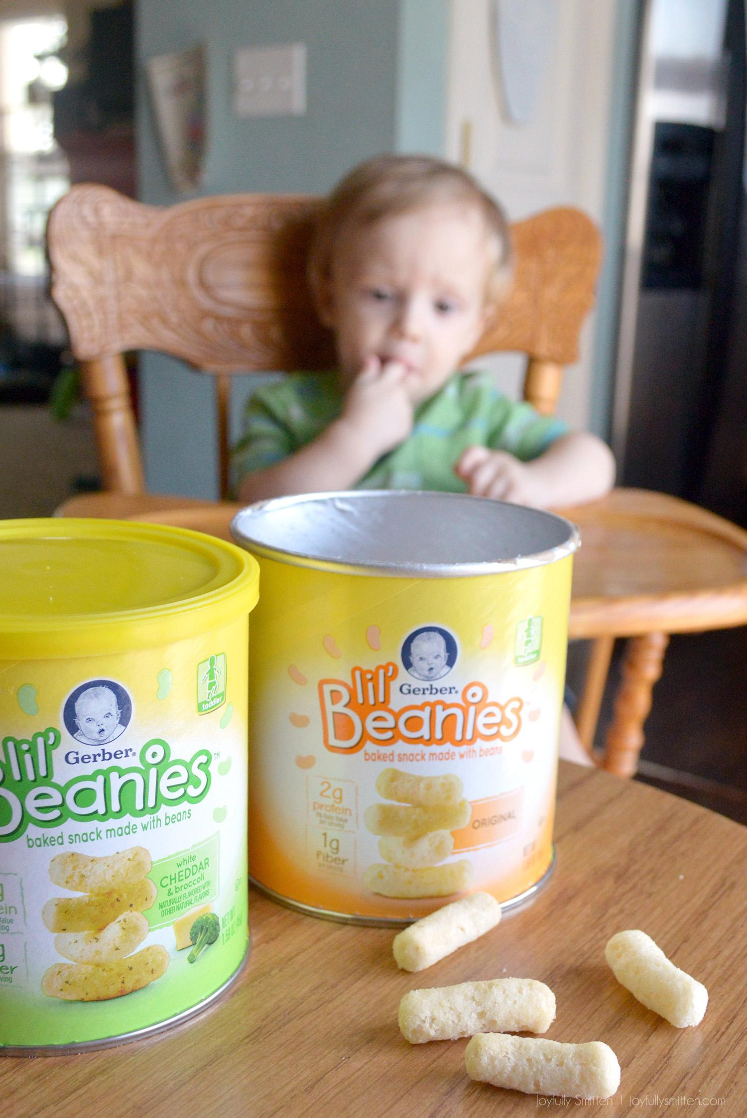 Lil Beanies have 2 grams of protein (9% Daily Value) and 1 gram of fiber per serving and not made with genetically engineered (GM) ingredients.