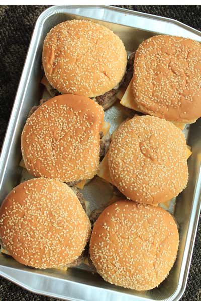 Oven Baked Cheeseburgers
