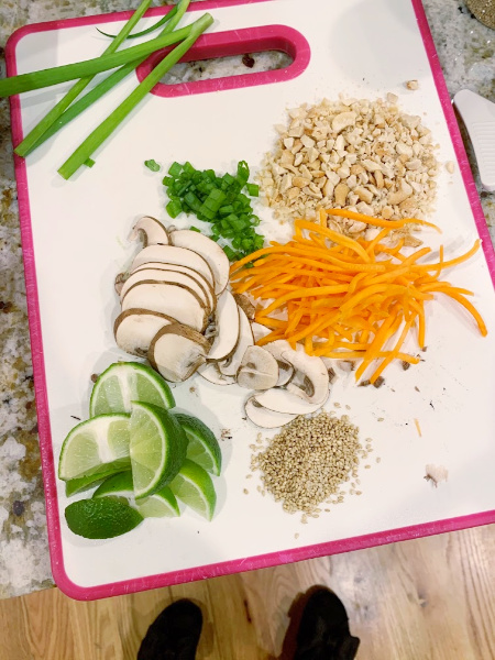 Spicy Thai Vegetable Ramen Ingredients