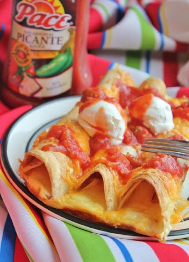 Crispy enchiladas