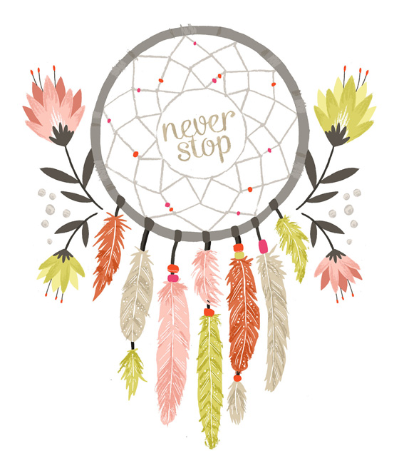 Never Stop Illustration by Alyssa Nassner of Small Talk Studio