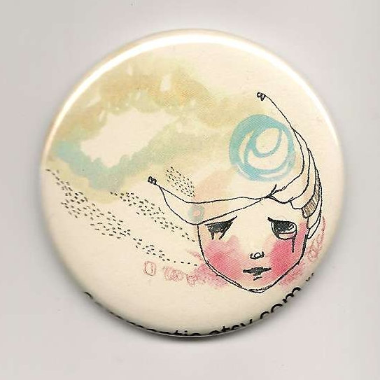 Girl Pocket Mirror, Illustration Drawing, The Tears That Ran Away Laughing