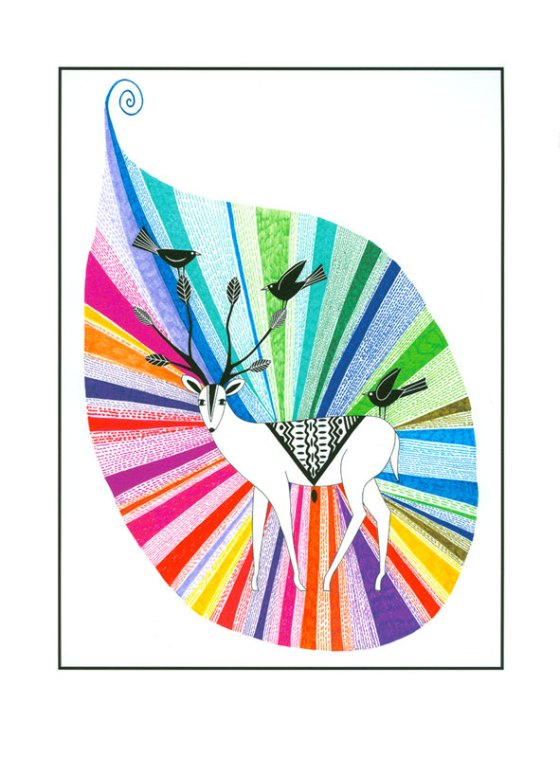 Rainbow Teardrop By Cathy Connolley