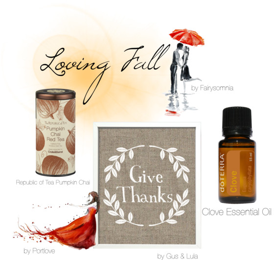 Loving Fall Inspiration Board, DoTERRA Sierra Vista, Clove Essential Oi, Autumn Art Print, Give Thanks
