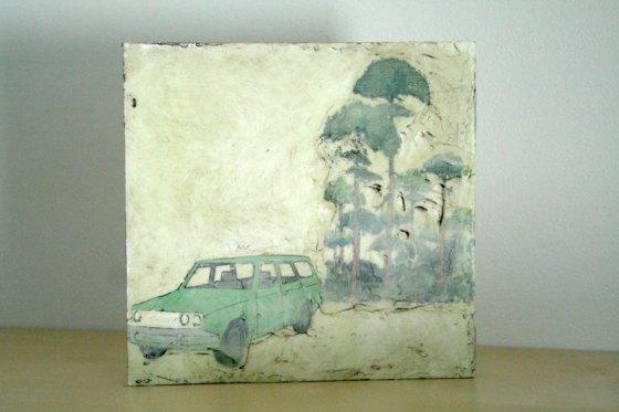 Original Encaustic No. 71 by Michele Bosak