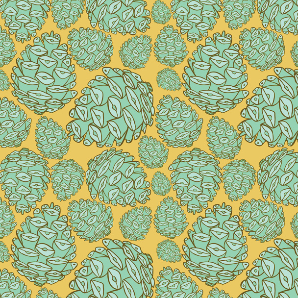 Retro Pinecones: Playful Patterns