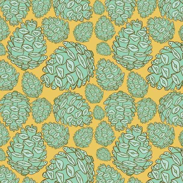 Retro Pinecones: Playful Patterns