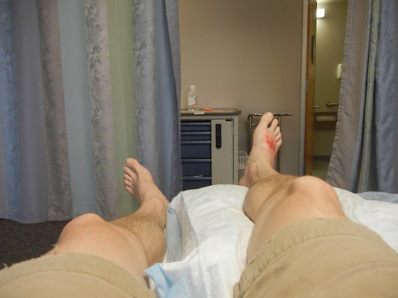 It wouldn't be an adventure without a visit to urgent care - surfing accident that got infected.