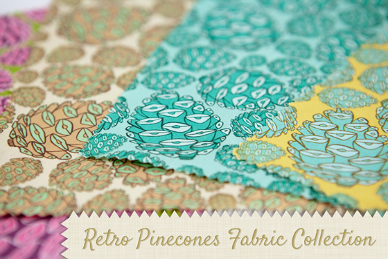 Retro Pinecone Fabric Collection Fabric Wallpaper Spoonflower Pattern Nature Woodland