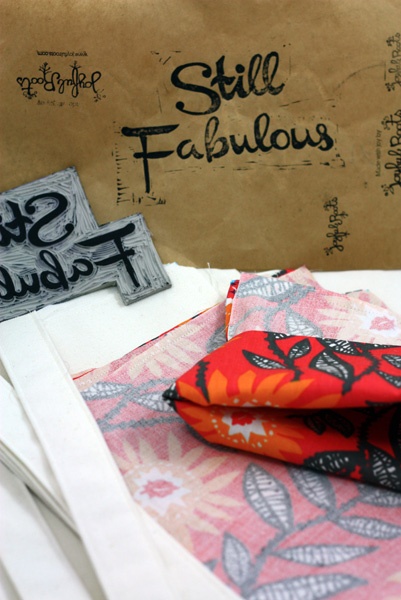 Still Fabulous Stamp & Prepped Fabric
