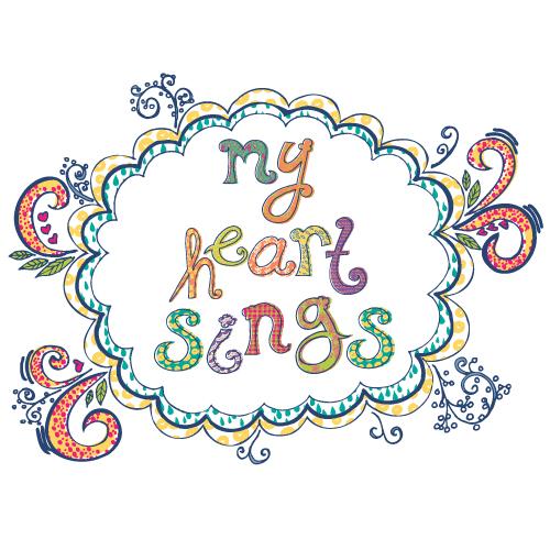 My Heart Sings Patterned Alphabet