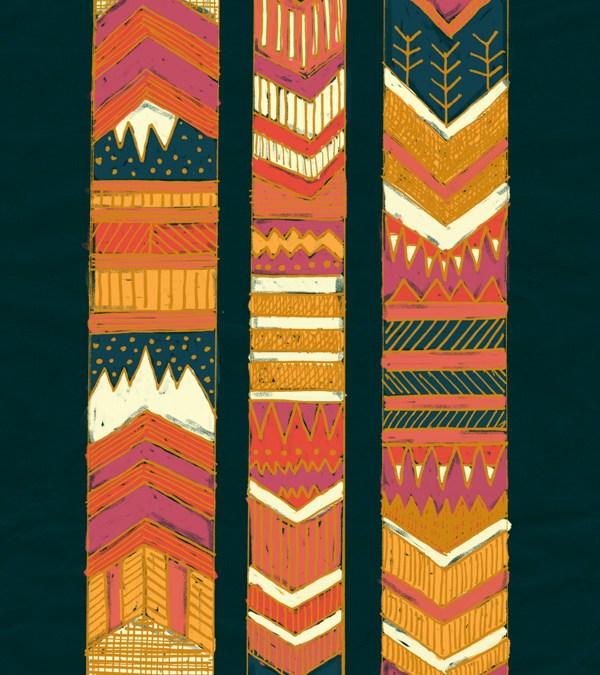 New Art Print – Navii Chevron Stripes