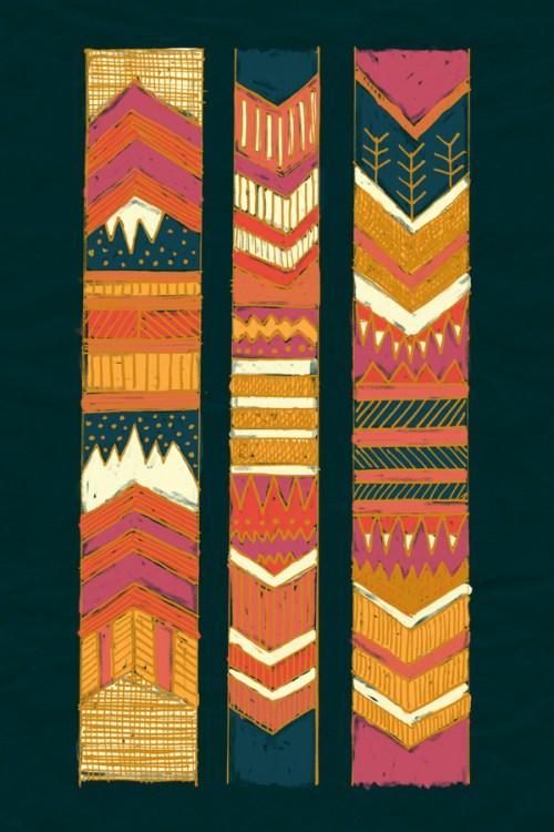 Navii Native Chevron Tribal Southwest Art Print
