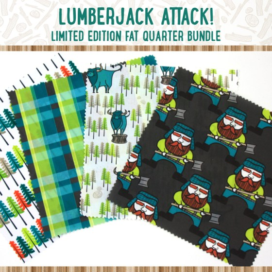 Lumberjack Attack Limited Edition Fat Quarter Bundle Sewing Loft Giveaway