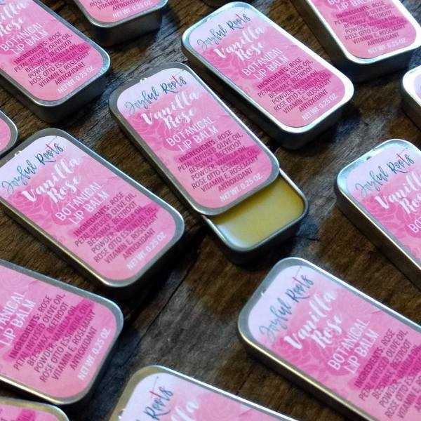 Vanilla Rose Botanical Lip Balm