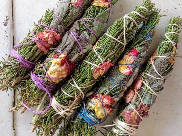 Rosemary and Sage Smoke Medicine Bundles Wands