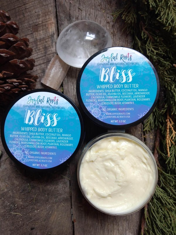 Bliss Whipped Body Butter by Joyful Roots Seven Infused Herbs for Skin Support and Nourishment
