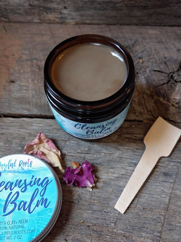 Organic Cleansing Balm, All Natural, Neem, Clay, Lavender
